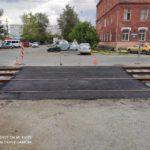 Восстановлено асфальтовое покрытие межквартального проезда после проведения капитального ремонта трамвайных путей