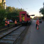 Завершен капитальный ремонт трамвайных путей по улице Лермонтова